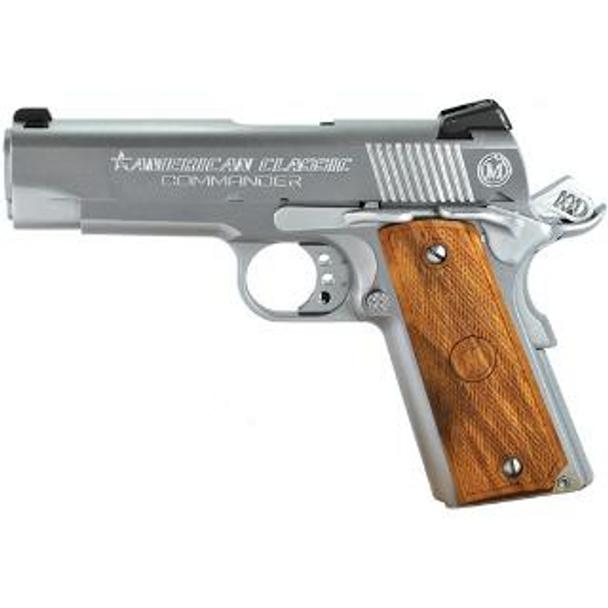 AMERICAN CLASSIC Commander 1911 45ACP 4.25in 8rd Hard Chrome Pistol (ACC45C)