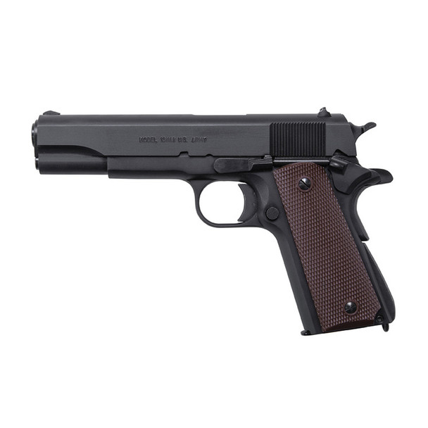 AUTO ORDNANCE 1911A1 Commander 45 ACP 4.25in Barrel 7Rd Brown Checkered Plastic Black Pistol (1911BKOC)