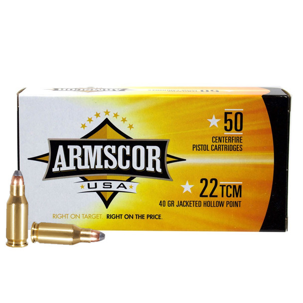 ARMSCOR 22 TCM 40Gr JHP 50Rd Box Ammo (FAC22TCM-1N)