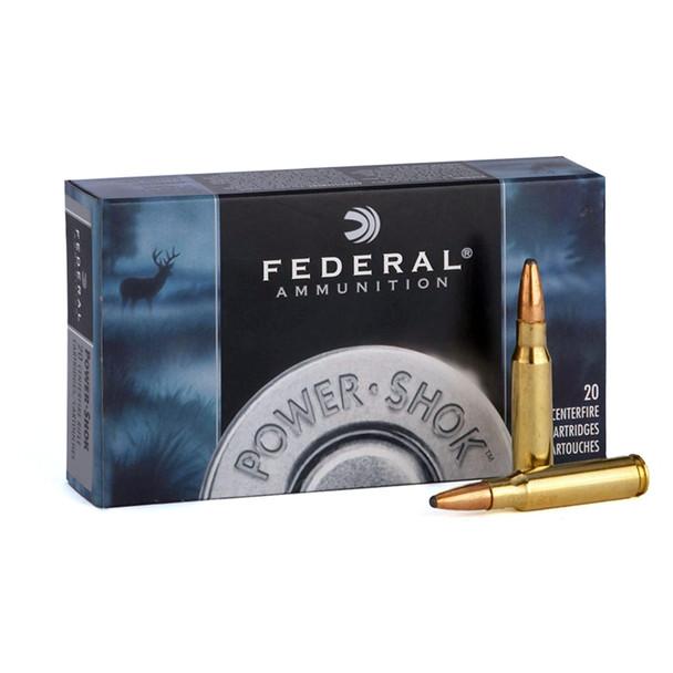 FEDERAL Power-Shok 30 Carbine 110 Grain Soft Point Round Nose Ammo, 20 Round Box (30CA)