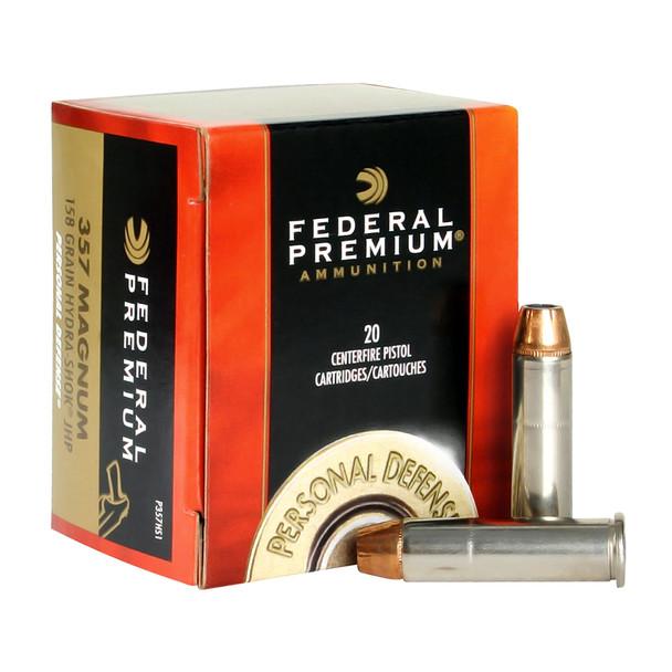 FEDERAL Premium Personal Defense 380 ACP 90 Grain Hydra-Shok JHP Ammo, 20 Round Box (PD380HS1H)
