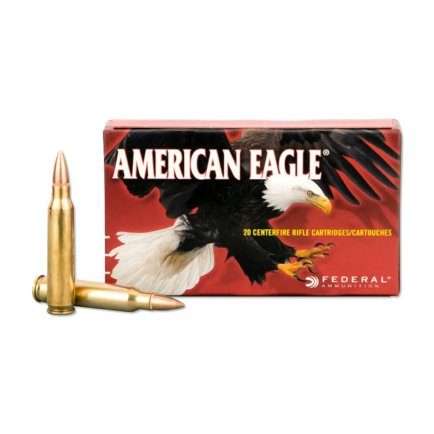 FEDERAL American Eagle 308 Win. 110 Grain FMJ Ammo, 20 Round Box (AE308D)