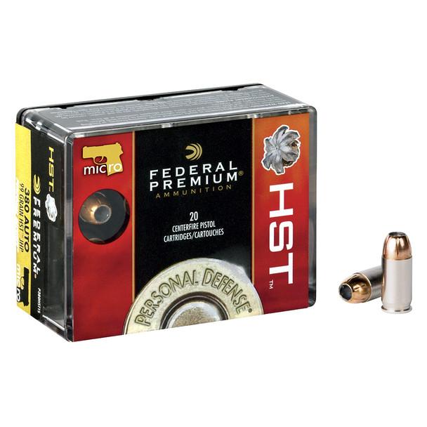 FEDERAL Premium Personal Defense 45 ACP 230 Grain HST Ammo, 20 Round Box (P45HST2S)