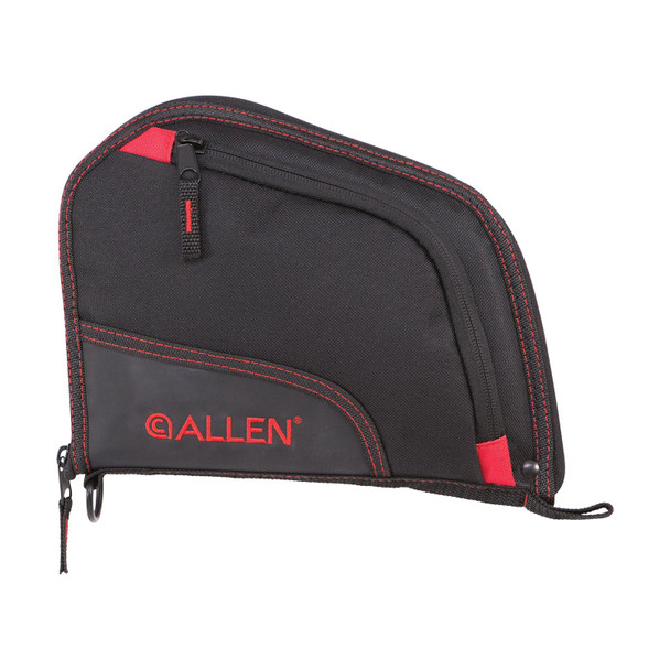 ALLEN COMPANY Auto-Fit 9in Black/Red Handgun Case (7738)