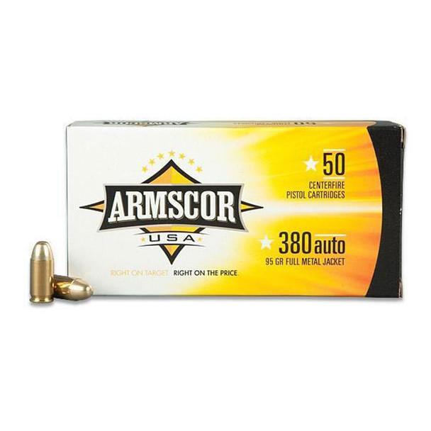 ARMSCOR .380 ACP 95Gr FMJ 50rd Box Ammo (FAC380-2N)