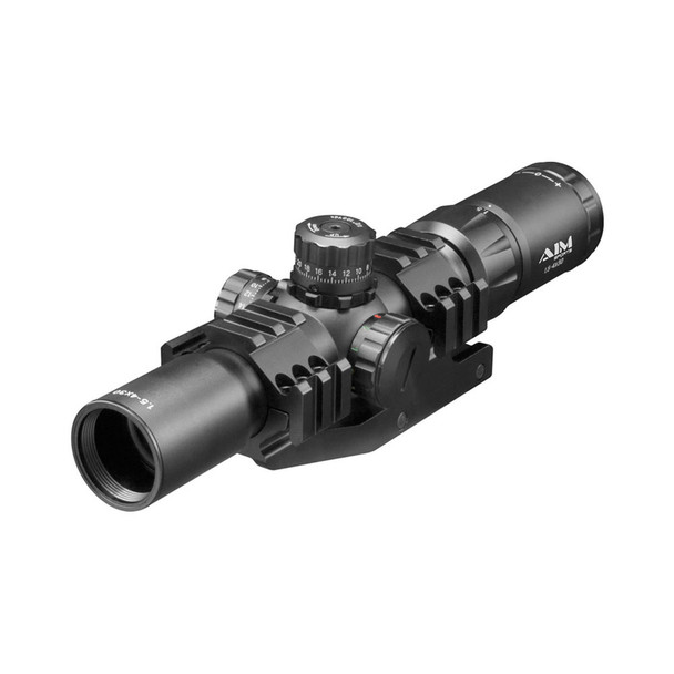 AIM SPORTS Recon 1.5-4x30 Tri Illuminated 3/4 Circle Reticle CQB Riflescope (JTHR1)
