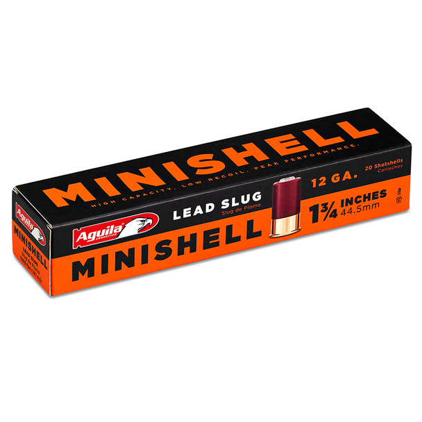 AGUILA Minishell 12Ga 1.75in Lead Slug 20 Round Box Shotshell (1C128974)