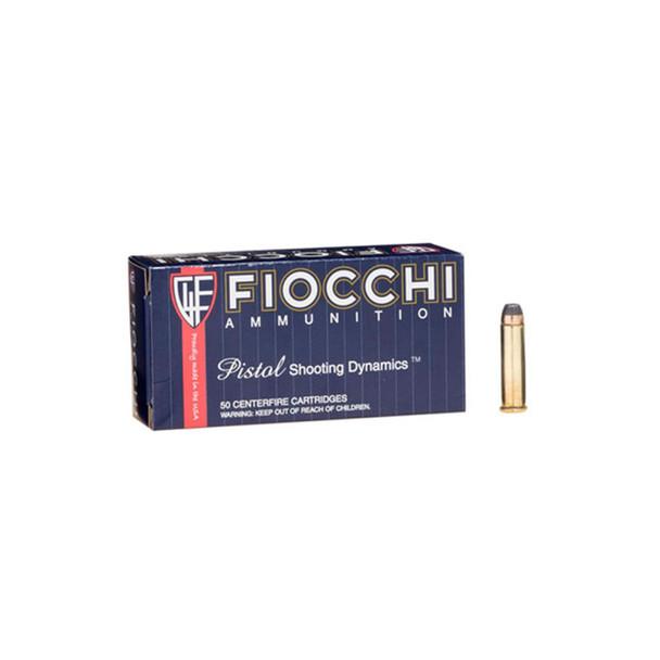 FIOCCHI 357 Mag. 158 Grain CMJFP Ammo, 50 Round Box (357GCMJ)