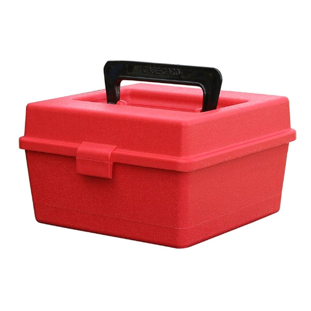MTM CASE-GARD Deluxe R-100 Series 100rd Small Red Rifle Ammo Box (R10030)