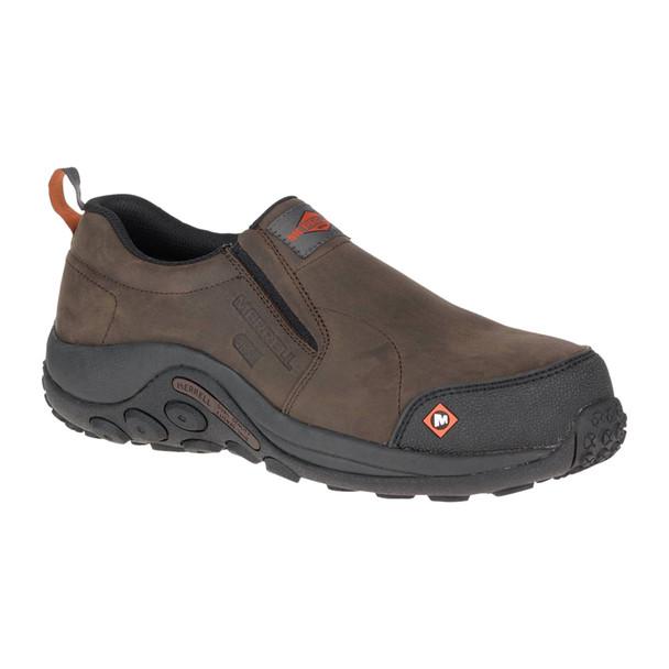MERRELL Jungle Moc ESD Comp Toe Wide Width Espresso Work Shoe (J17757W)