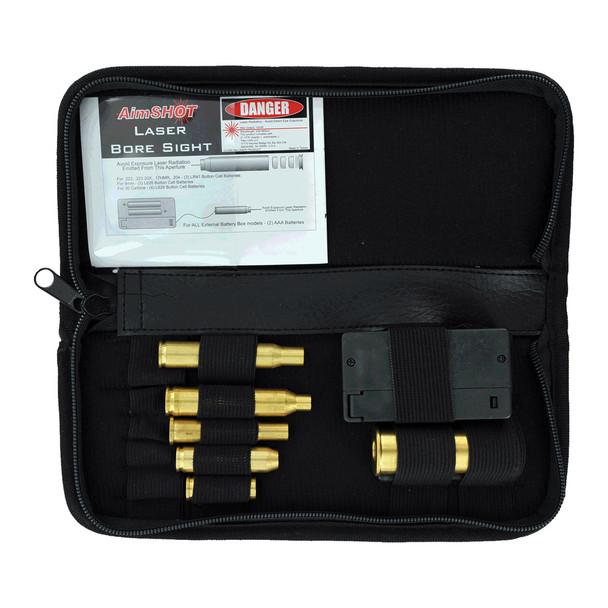 AIMSHOT Universal Brass Laser Boresight Rifle Kit (KTRIFLE)