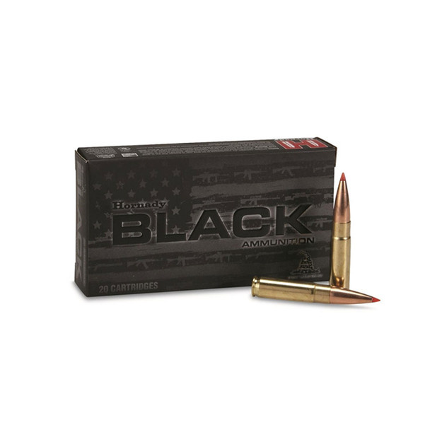HORNADY Black 300 Blackout 208 Grain A-Max Ammo 20 Round Box (80891)