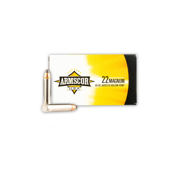 ARMSCOR .22 Magnum 40Gr JHP Ammo (FAC22M-1N-50018)