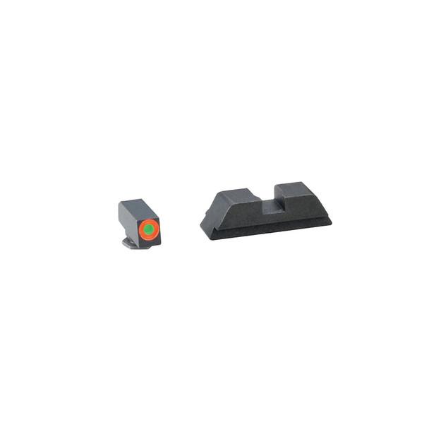 AMERIGLO Hackathorn Glock 42 Orange Outline Front/Black Rear Night Sight Set (GL-435)