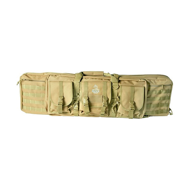 AMERICAN TACTICAL Rukx 36in Tan Tactical Double Gun Case (ATICT36DGT)