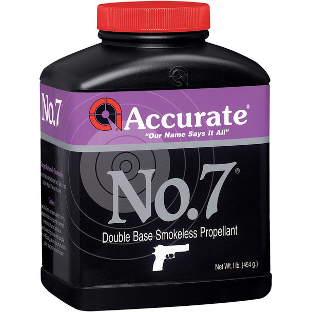 ACCURATE No. 7 Intermediate Burn Double-Base 1 lb Spherical Handgun Powder (575)