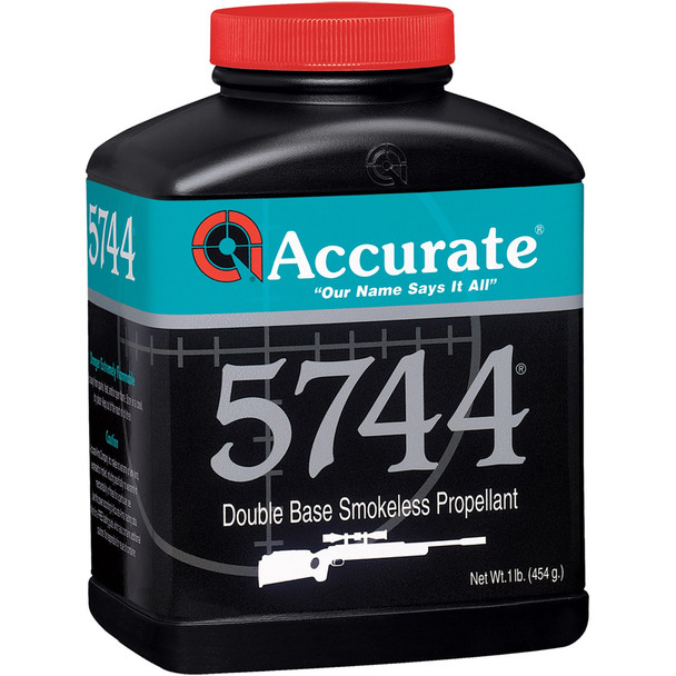 ACCURATE 5744 Extremely Fast Burn Double-Base Extruded Rifle Powder (5744)