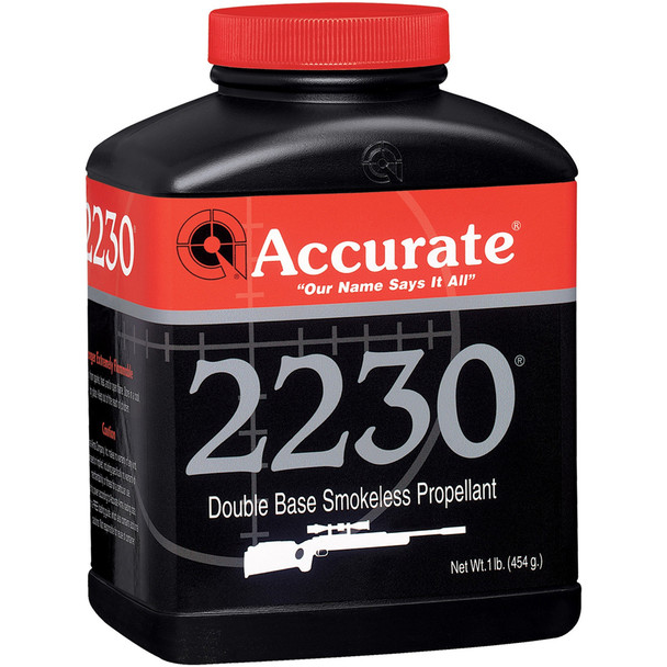 ACCURATE 2230 Fast Burn Double-Base 1 lb Spherical Rifle Powder (2230)