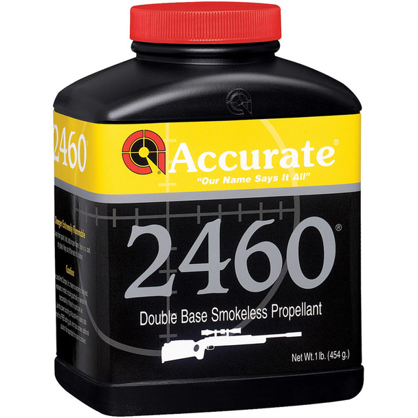 ACCURATE 2460 Fast Burn Double-Base 1 lb Spherical Rifle Powder (2460)