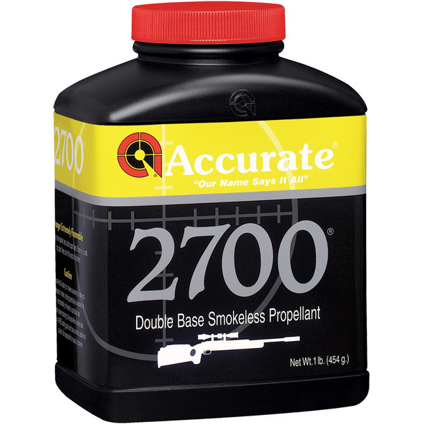 ACCURATE 2700 Medium Burn Double-Base 1 lb Spherical Rifle Powder (2700)