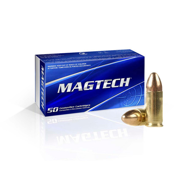 MAGTECH 9mm 115 Grain FMJ Ammo, 50 Round Box (9A)
