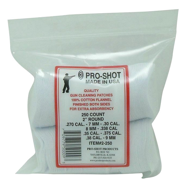 PRO-SHOT PRODUCTS 270-38 Cal 2in Round 250 Count Patches (2-250)