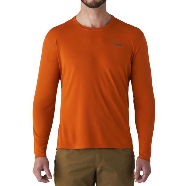 SITKA Basin Burnt Orange Work Long Sleeve Shirt (80036-BO)