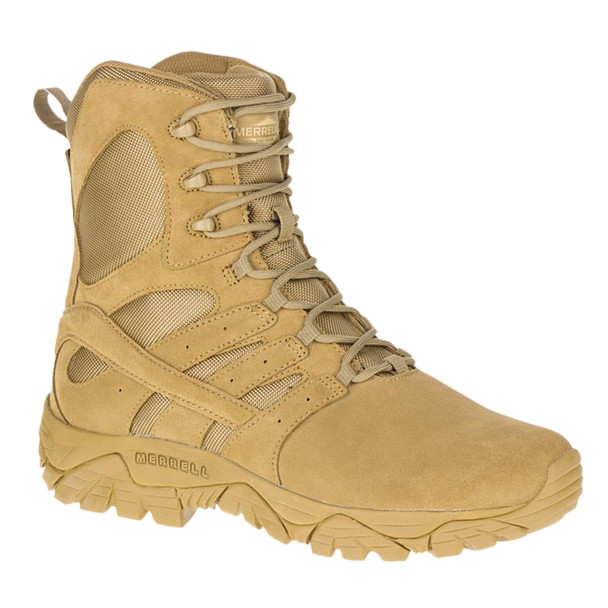 MERRELL Mens Moab 2 8in Tactical Defense Wide Width Coyote Boot (J17765W)