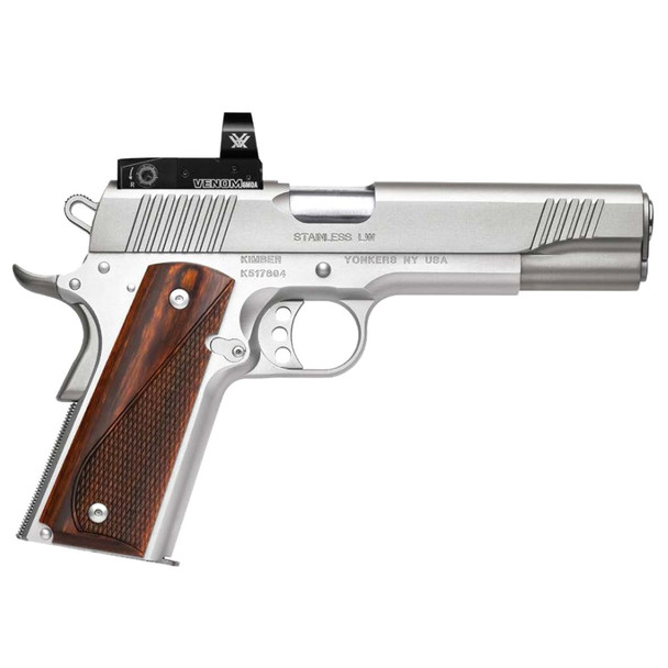 KIMBER Stainless LW 45 ACP 5in 8rd Pistol with Vortex Venom 6 MOA Dot Optic (3700633)