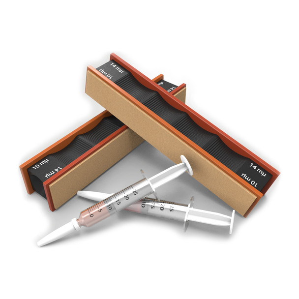 WICKED EDGE 14/10 Micron Diamond & Leather Strops Pack (WE1410)