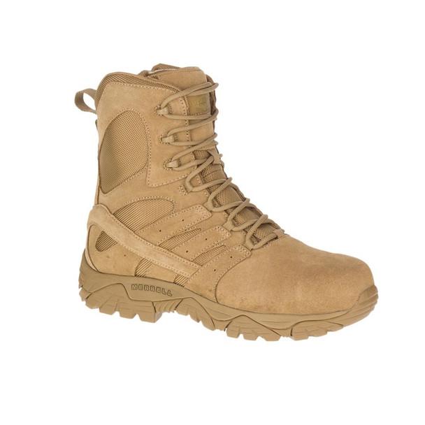 MERRELL Unisex Moab 2 8in Defense Zip Comp Toe Dark Coyote Boots (J099371)