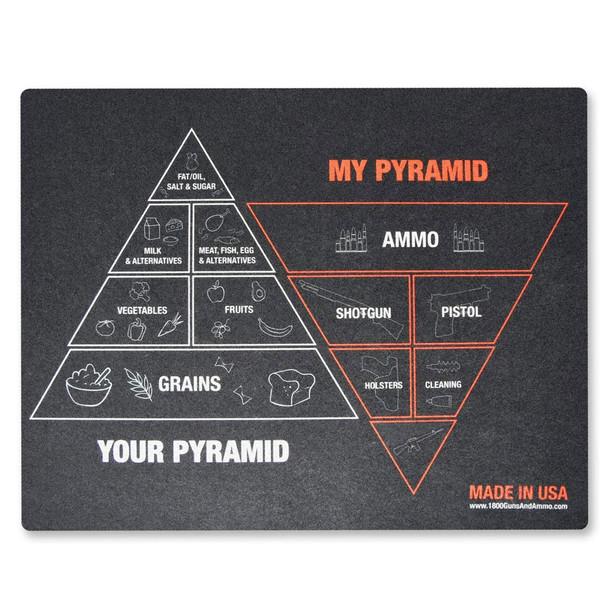 1800GUNSANDAMMO Pyramid of Needs 16x20in Gun Cleaning Mat (GCMAT-PYR)