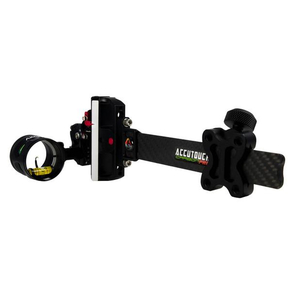 AXCEL ARCHERY AccuTouch Carbon Pro Single Pin .019 Green Fiber Slider Sight (ACUT-C119-3GB)