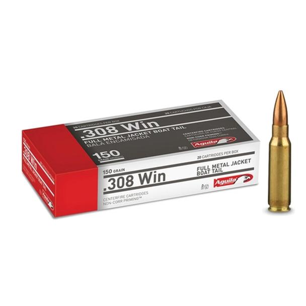 AGUILA .308 Win 150Gr FMJ 20rd Box Rifle Ammo (1E308110)