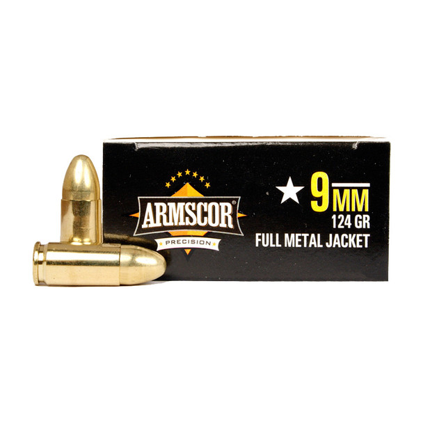 ARMSCOR 9mm 124 Grain JHP 20rd Box Pistol Ammo (AC9-7N)