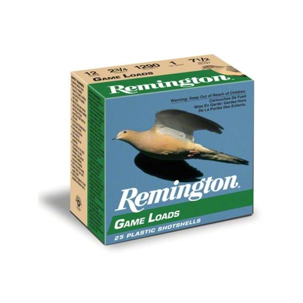 REMINGTON Game Load 20 Gauge 2.75in #7.5 Ammo, 25 Round Box (GL207)