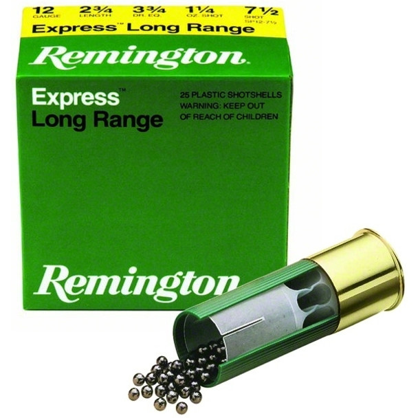 REMINGTON Express 12 Gauge 2.75in #1 Buck Ammo, 5 Round Box (12B1)