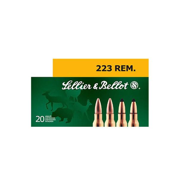 SELLIER & BELLOT 222 Rem. 50 Grain SP Ammo, 20 Round Box (SB222A)