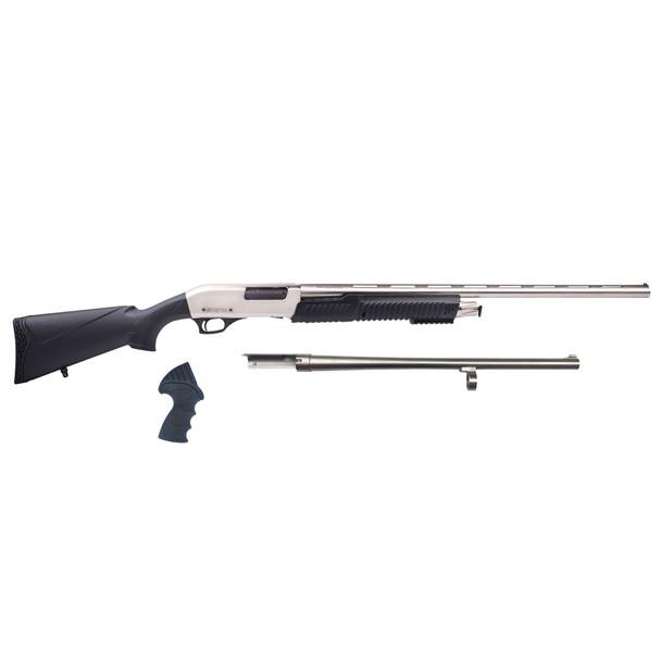 ARMSCOR Meriva 3-in-1 12Ga 18.5in 5 Rd Chrome Shotgun (MR25-P101-MC)