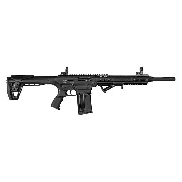 LANDOR ARMS AR-Shotgun 12 Ga 18.5in 5+1rd /2+1rd Right Hand Black Shotgun (LDLND1171218)