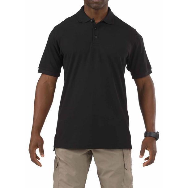 5.11 TACTICAL Utility Short Sleeve Black Polo (41180-019)