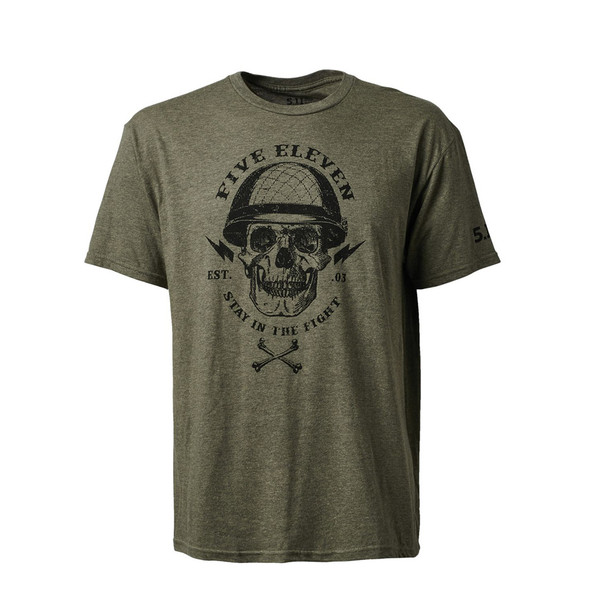 5.11 TACTICAL Stay In The Fight Sage Black Heather Tee (41191OQW-815)