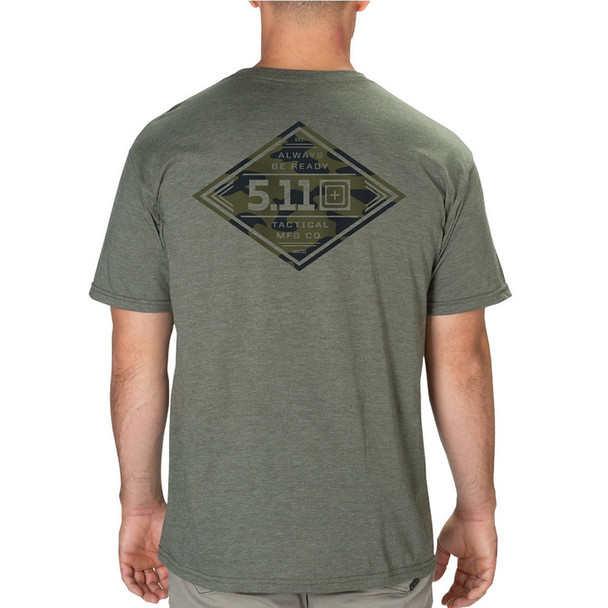5.11 TACTICAL Diamond Crest Military Green Heather Tee (41191POW-223)