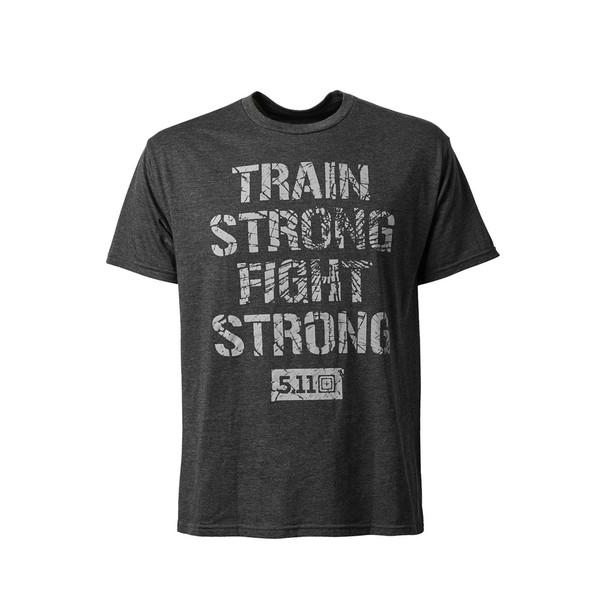 5.11 TACTICAL Train Strong Charcoal Heather Tee (41191QGW-035)