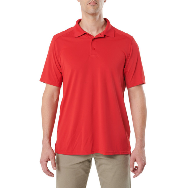 5.11 TACTICAL Helios Range Red Short Sleeve Polo (41192-477)