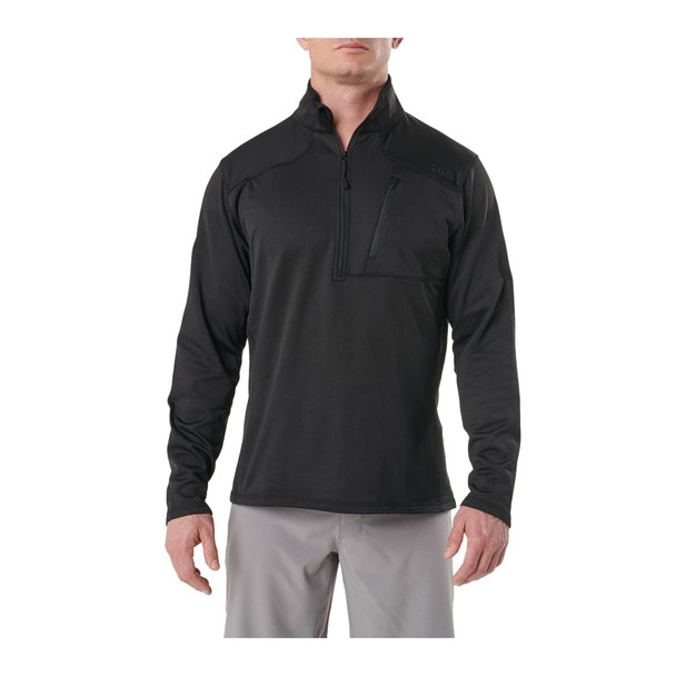 5.11 TACTICAL Recon Half Zip Fleece True Black Shirt (72045-264)