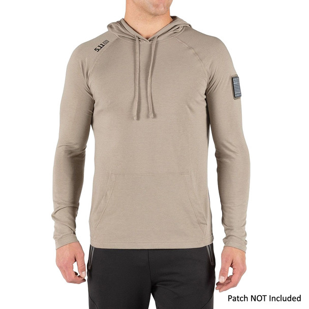 5.11 TACTICAL Men's Cruiser Performance L/S Stone Hoodie (72139-070)