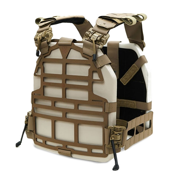 ACE LINK ARMOR Skeletac Tan Plate Carrier without Armor (SKLT-PLCR-TN)