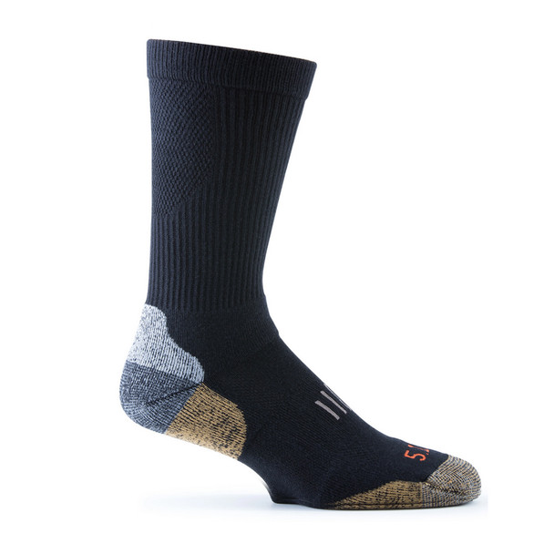 5.11 TACTICAL Year Round Black Crew Sock (10014-019)
