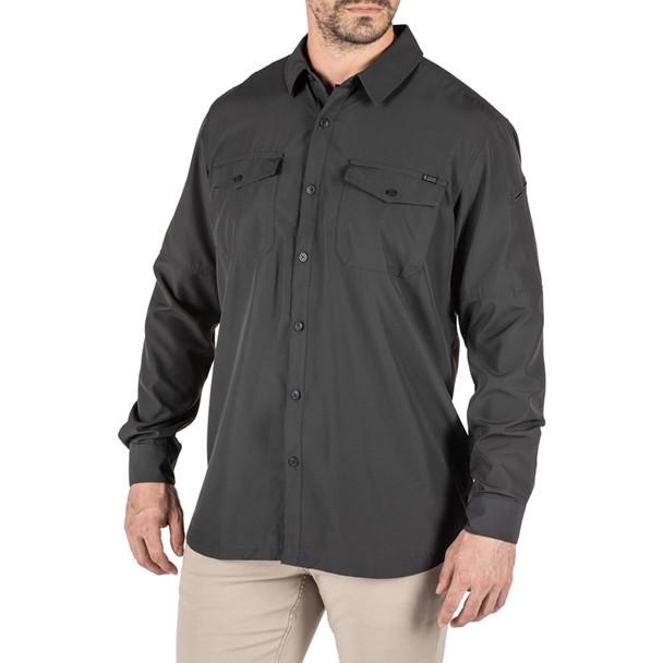 5.11 TACTICAL Men's Marksman L/S UPF 50+ Volcanic Shirt, Size M (72521-098-M)